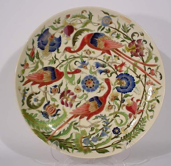 Zsolnay Hungarian Handicrafts Jewel Box Flower Colour Decor Porcelain Birds Style
