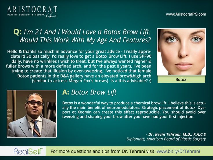 Q: I Would Love a Botox Brow Lift, Would This Work With My Age And Features?     http://www.AristocratPS.com/qa-i-would-love-a-botox-brow-lift-would-this-work-with-my-age-and-features