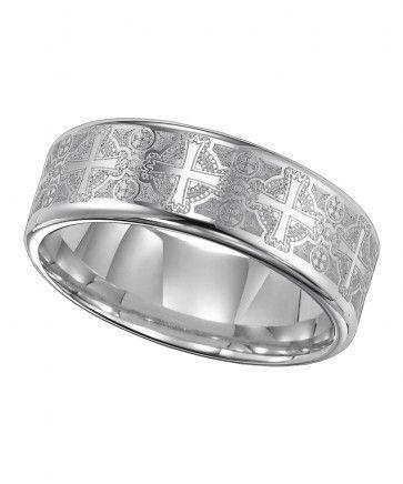 Triton, Tungsten Carbide 8mm Comfort Fit Wedding Band