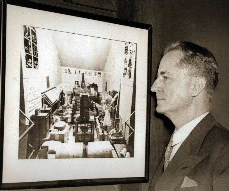 This is Dr. Jacobs, admiring a photograph of what he created.
