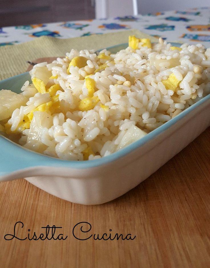 Insalata di riso all'ananas e pinoli http://blog.giallozafferano.it/lisettacucina/insalata-riso-allananas-pinoli/
