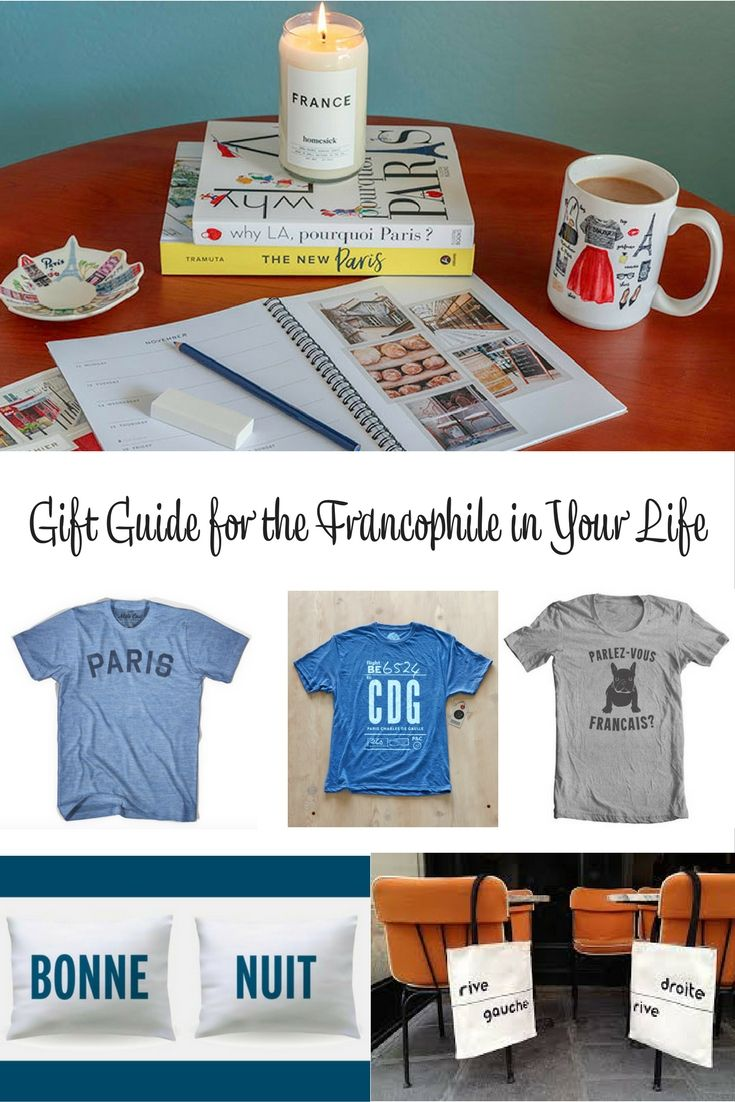 Gift Guide for the Francophile in Your Life. Do you have a friend or family member that goes gaga for all things French? My curated gift guide for the Francophile in your life is just what you need. #giftguide #francophile #holidayguide