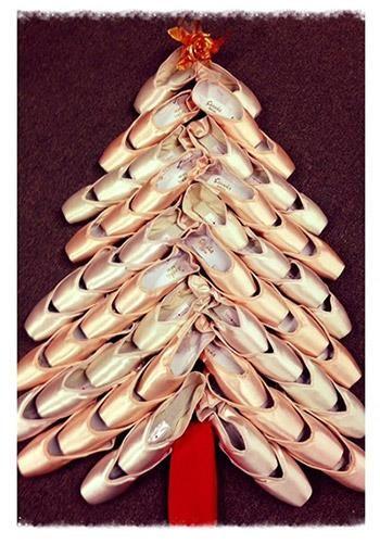 Pointe shoe Christmas tree!