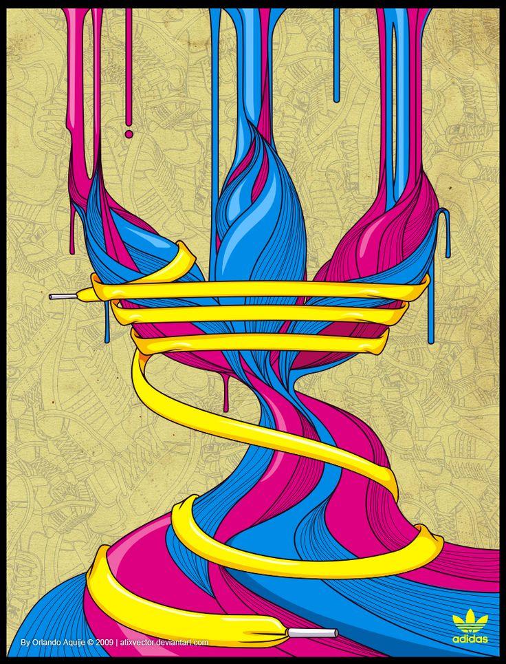 ADIDAS_LOGO_I_by_AtixVector (In-Focus: Colorful Vector Artworks by Orlando Aquije)