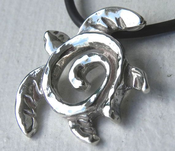 NECKLACE  Sea Turtle Totem Sterling Silver by FantaSeaJewelry, $74.00
