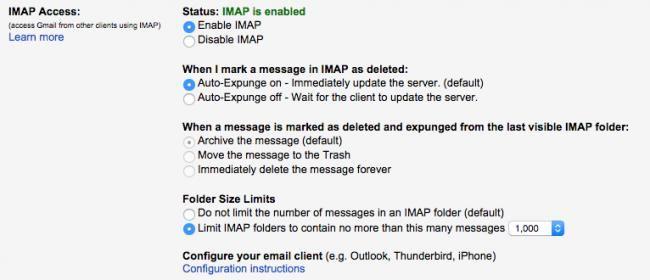 ¿Usas Gmail en algún cliente de correo con IMAP? Revisa estos 5 ajustes de la web oficial