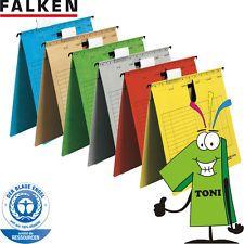 25 x Falken Hängehefter A4 Hängeregistratur Hänge-Hefter kaufm Heftung  farbig