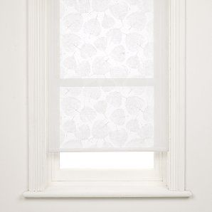 Sheer patterned roller blinds - love this idea for the sheer blind