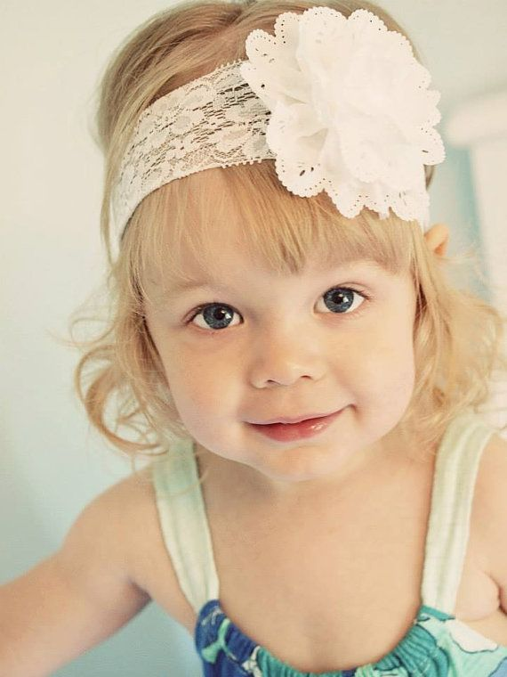 White Headband White Baby Headband White by MattieJeanBowtique