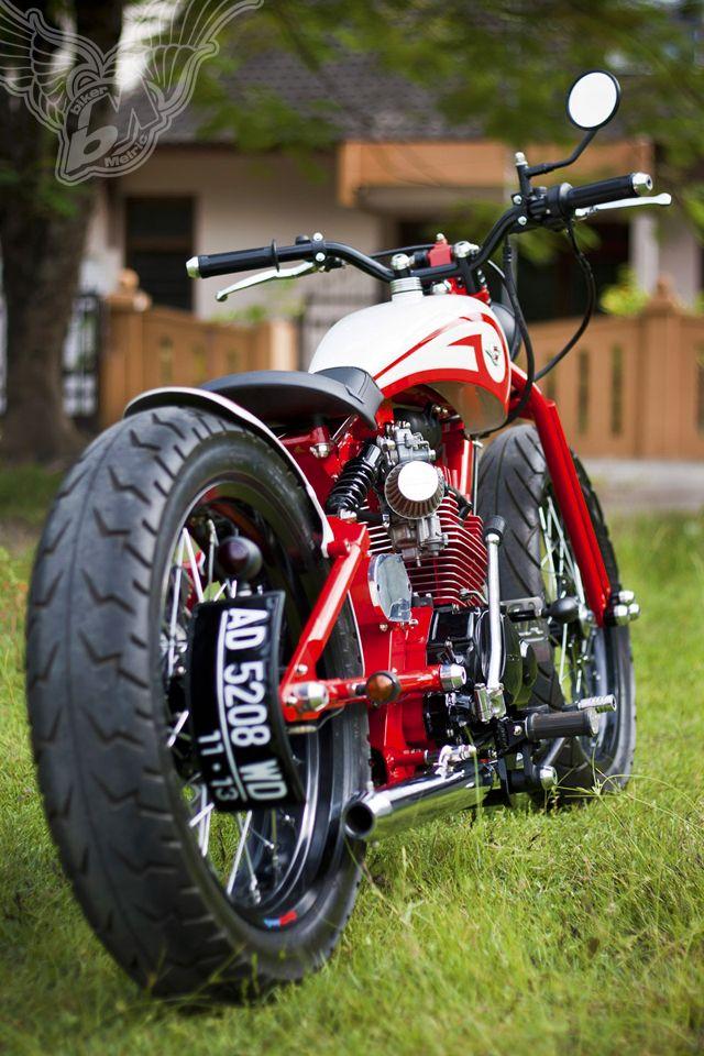 custom honda cb125 bobber   dariztdesign