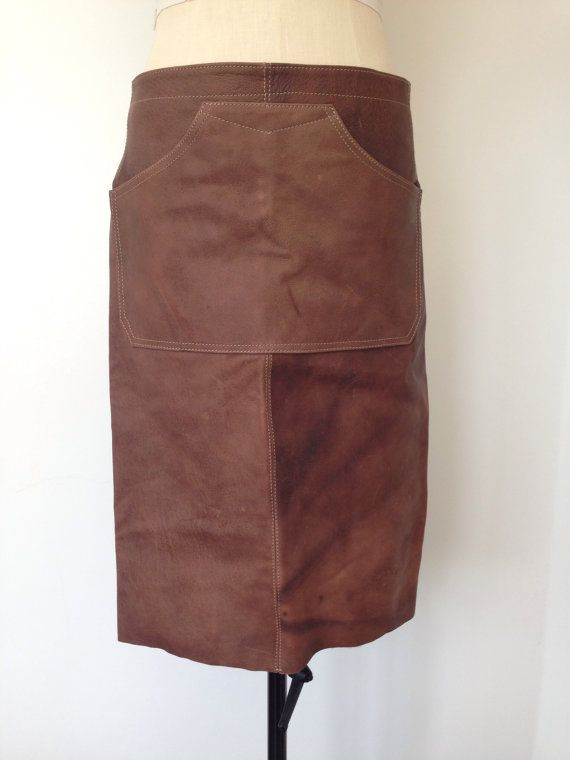 Leather Apron Brown Leather Apron Welding by CardamomClothing