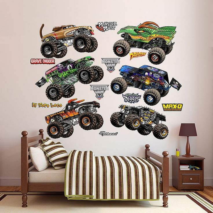 Monster Jam Trucks Collection Wall Decals by Fathead, Multicolor
