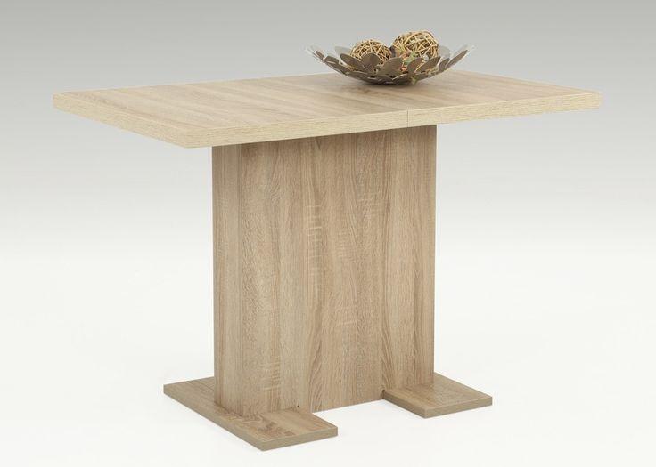 Küchentisch ausziehbar Britt 110x69 Säulentisch Sonoma Eiche 1413. Buy now at https://www.moebel-wohnbar.de/kuechentisch-ausziehbar-britt-110x69-saeulentisch-sonoma-eiche-1413
