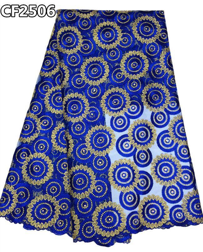 CF25 Современный дизайн королевский синий Французский шнурок Африканская вышивка тюль кружевной ткани для одежды CF25 купить на AliExpress