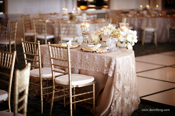 Lace tablecloth. Photo: Darin Fong Photography.