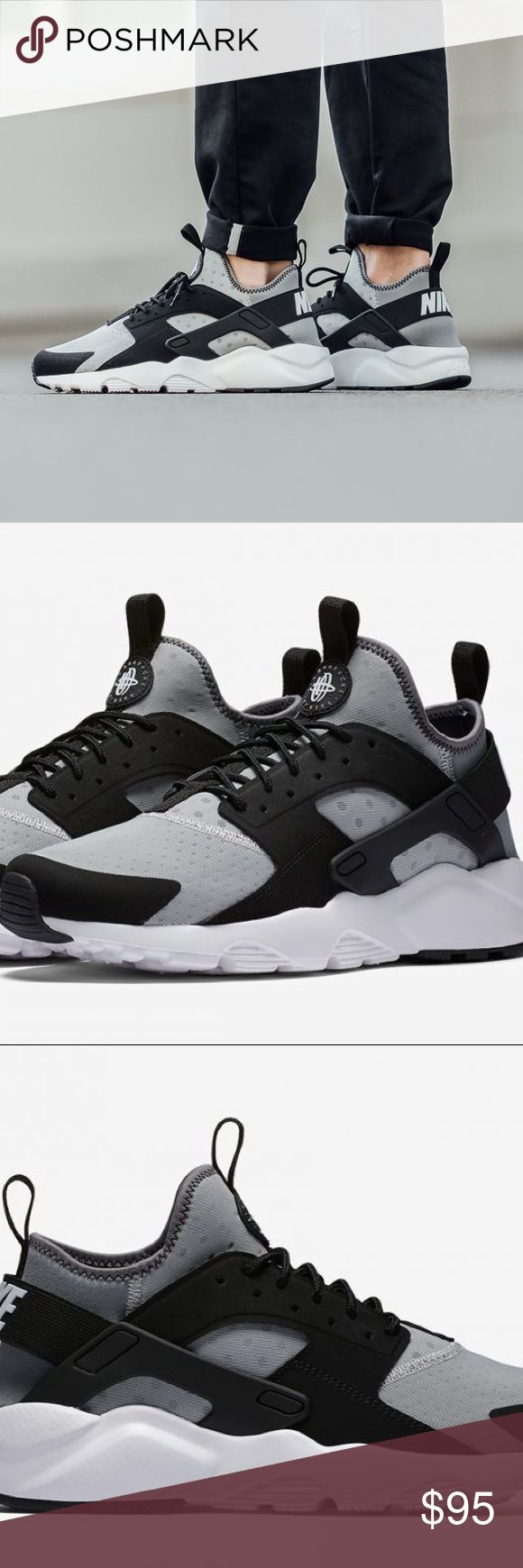 """Nike HURACHE ULTRA 2017 $120 Wolf Grey / Black """"Nike Sportswear just debuted their newest Nike Air Huarache release with the launch of this Nike Air Huarache Ultra Wolf Grey colorway."""" -Sneaker Bar Detroit   Nike Air Hurache Ultra 2017  Color: Wolf Grey /White-Black  Size: 10  Retail: $130   The Nike Air Hurache Ultra: A sneakerheads go to shoe. Comfort, style, and reliability make this shoe perfect for any occasion.  Step out in iconic style in the Men's Nike Air Huarache Run Ultra Casual…"""