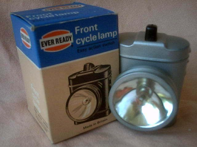 These were around when I was a kid and even older ones. Very basic as you would expect. Funny but you still see the lamp holder on bikes today.