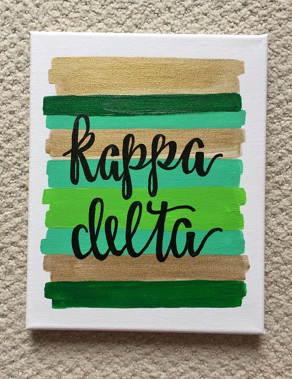 Kappa Delta Sorority Canvas // Big Little Gift // Sorority