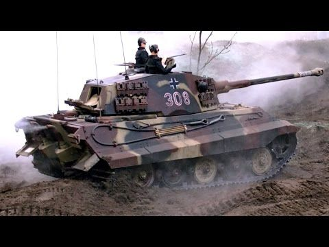 TANK IN ACTION GIANT RC KING TIGER II KÖNIGSTIGER SCALE 1:6 GERMAN TANK ...