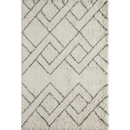 Momeni Maya Chevron Area Rug, White