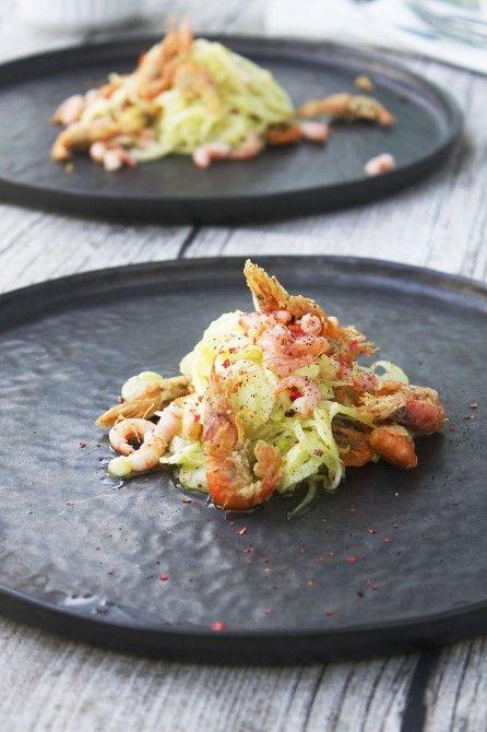 Fennikelsalat med fjordrejer // fennel salad with baltic prawn