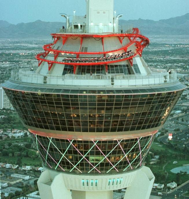 Roller Coaster on the top of the Stratosphere Las Vegas  Not for the faint hearted..........