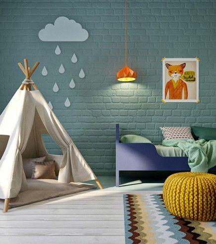 Witte vloer en groene muur