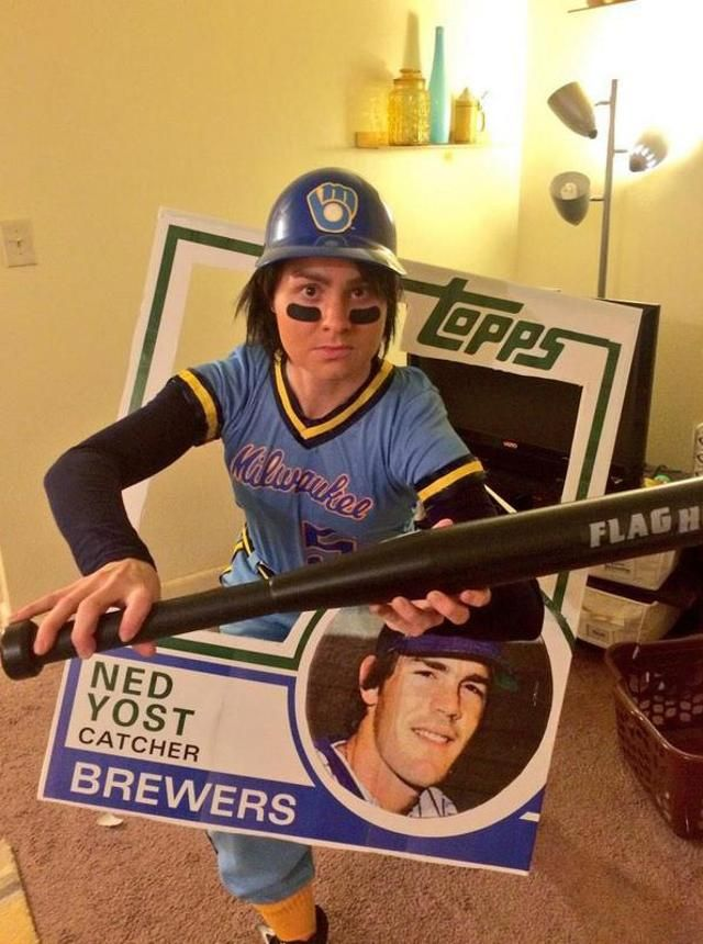 For Halloween, this Royals fan was Ned Yost's 1983 baseball card