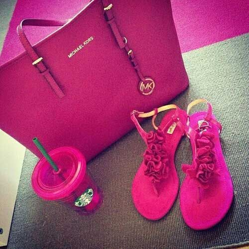 113d9a86a0e1 michael-kors-hot-pink-bag- Michael kors bags and shoes   purseslikemichaelkors