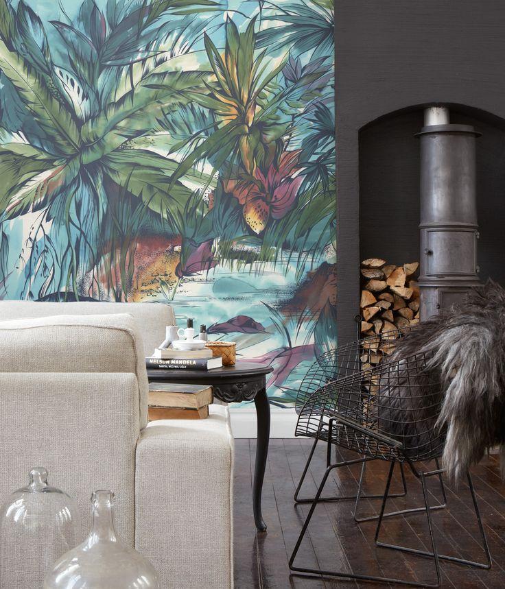 Skapa en tropiska känsla i ditt hem med denna vackra akvarell!