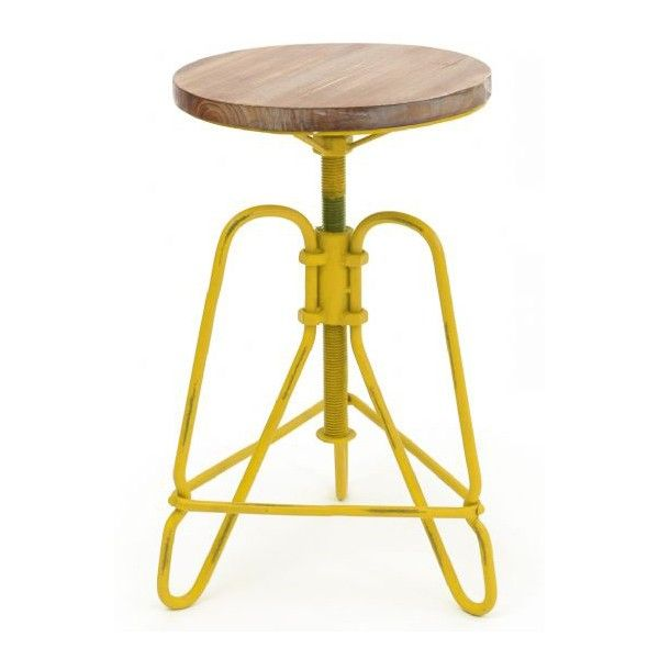 This Retro Metal & Wood Stool by General Eclectic will give your home extra personality and a bit of edge.......without falling off the edge!