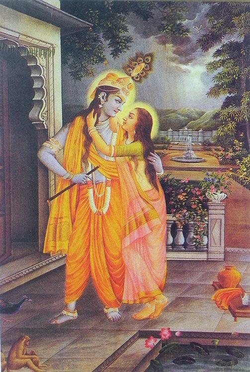 Secret+Rendevous+of+Radha+Krishna+(Reprint+on+Paper+-+Unframed)