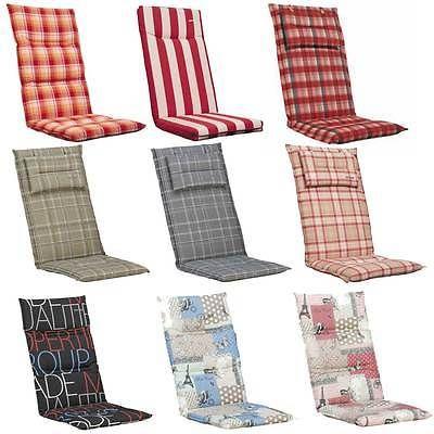 KETTLER Luxus Hochlehner Auflage Stuhlauflage Sessel Polster Garten Stuhl Kissen 2