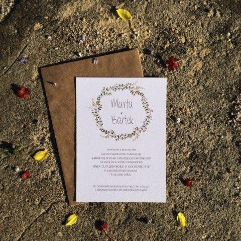 Zaproszenie ślubne w stylu boho http://bohodesign.pl/pl/p/Boho-/164