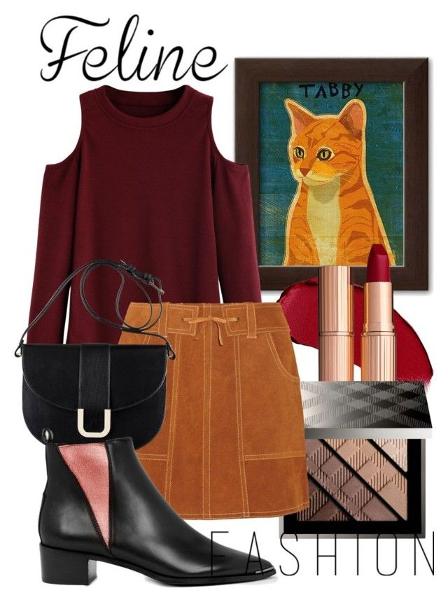 """""""Feline Fashion"""" by ncbuddy ❤ liked on Polyvore featuring Burberry, Anna Sui, A.P.C. and Acne Studios"""