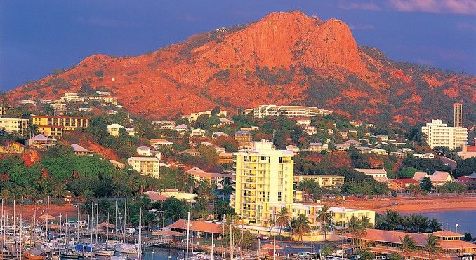 Castle Hill, Townsville - interesting fact: for a landmass to be considered a mountain it has to be exactly 1000ft. Castle Hill has been measured at 997 ft. The local community has tried, without success to add the additional 3 ft to the hill in the past to make it qualify.