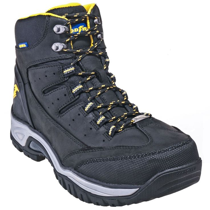 Goodyear Footwear Men's GY7664 Waterproof Steel Toe Black Hiking Boots