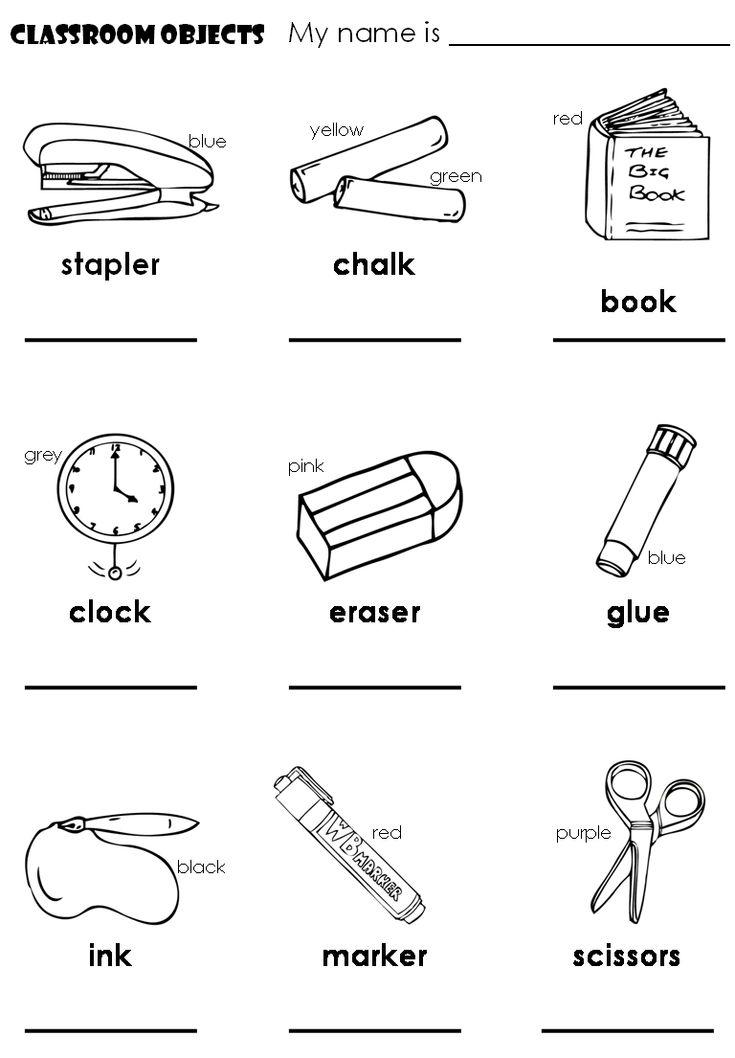 79 best Classroom Objects (Los objetos dentro del salon de