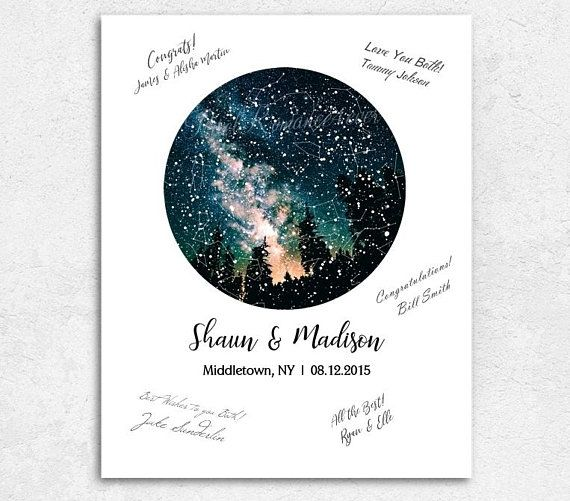 Star Map Guest Book Wedding Guest Book Poster Night Sky Constellations Print Rustic Wood Fr Wedding Guest Book Poster Map Guest Book Wedding Wedding Guest Book