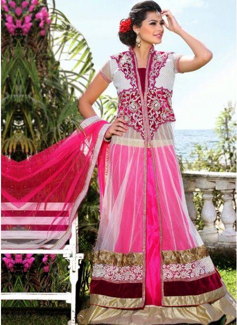Exotic Pink Color Satin Based #Lehenga #Choli
