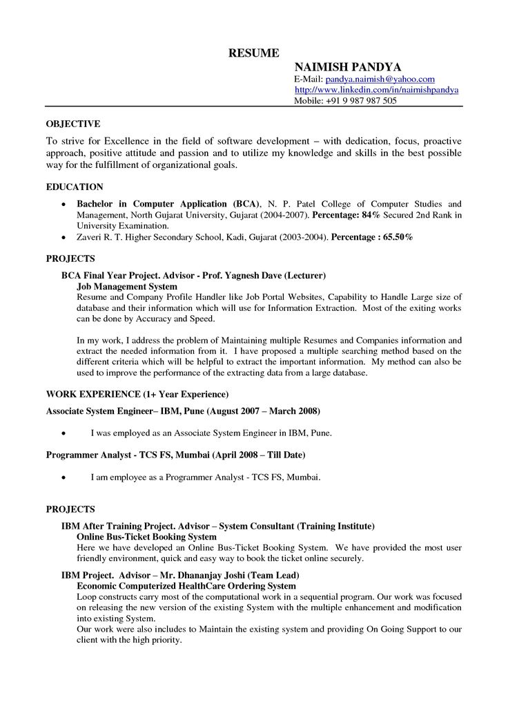 example resume templates format download pdf template examples for - systems consultant sample resume