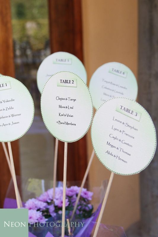 Dilightful Flowers and Ruby Moon Decor - Guest Seating Plan