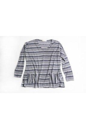 Bluestick Shirt Μπλούζα με φαρδιά εφαρμογή, μακρύ μανίκι και ριγέ στάμπα 26,00€