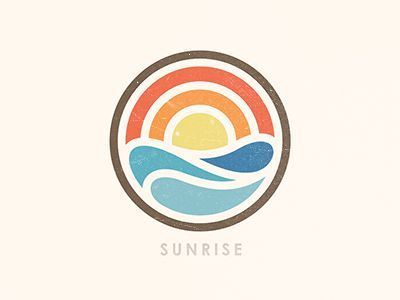 sunrise water logoicon designlogo designcircle logosgraphic - Graphic Design Logo Ideas
