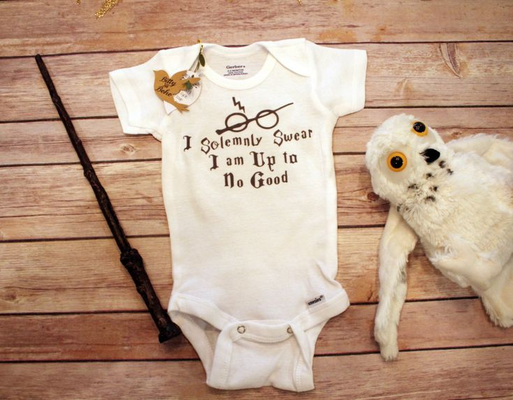 I Solemnly Swear That I Am Up To No Good Baby Onesie®, Harry Potter Ba – Bitty & Boho
