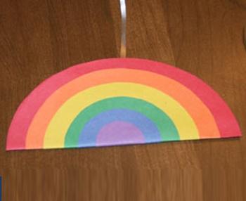 Circle Rainbow Craft