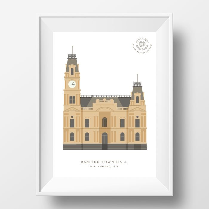 bendigo-town-hall-print