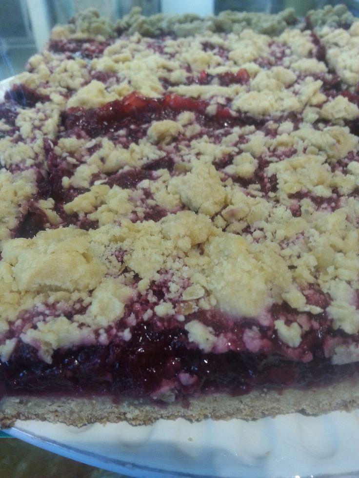 vegan boysenberry slice