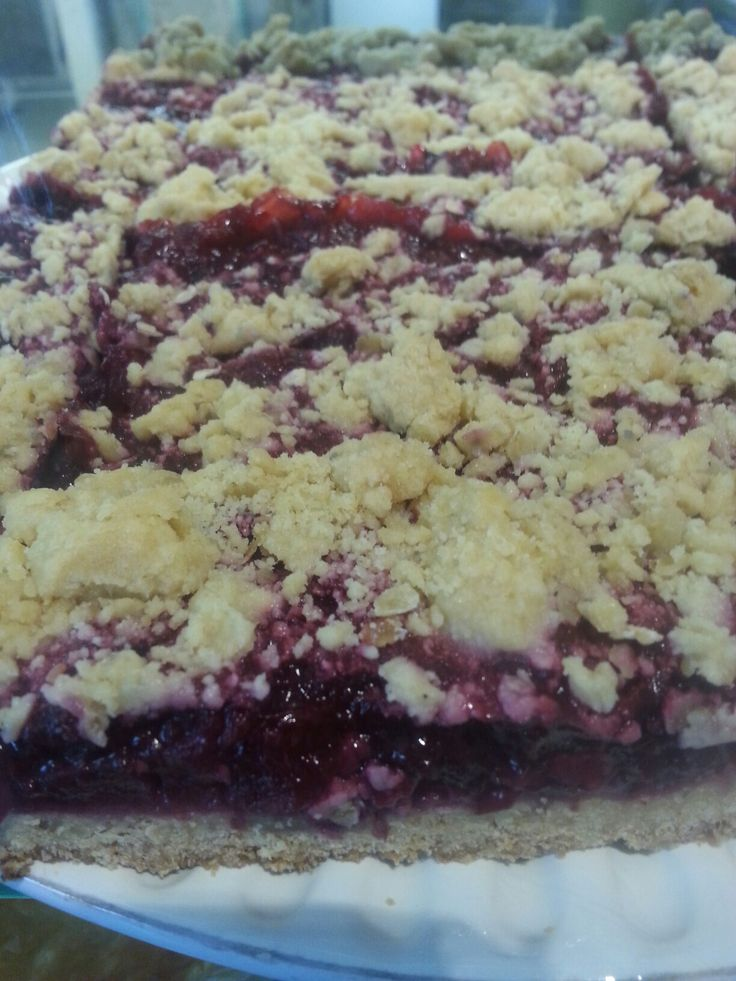 vegan boysenberry slice