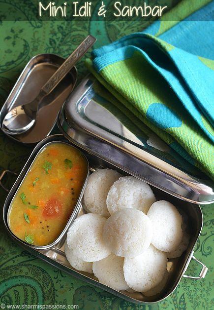 Mini Idli and Sambar - Kids Lunch Box Recipes - Lunch Box Idea 11